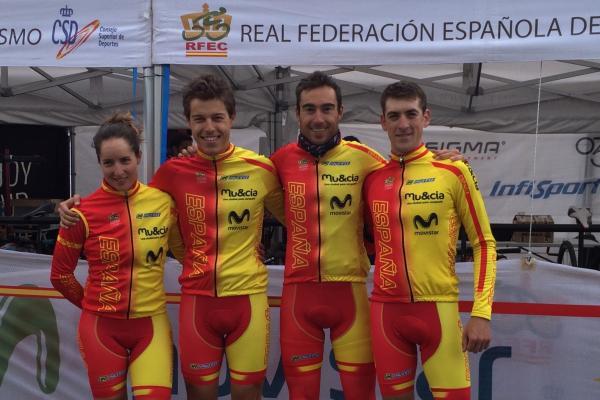 Rocio Martín, Sergio Mantecón. Fuente: Rfec
