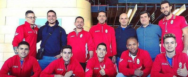 Equipo selección española de gimnasia artística masculina. Fuente: Rfeg