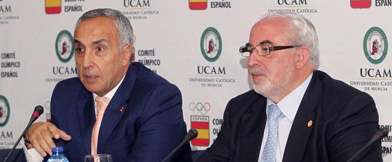 Alejandro Blanco y José Luis Mendoza Peréz. Fuente:  COE