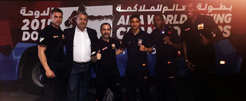 Delegación española a Doha. Fuente: Feboxeo
