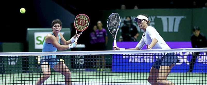 Carla Suárez y Garbiñe Muguruza. Fuente: Getty Images