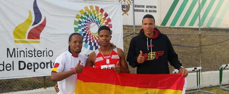 Dionibel Rodriguez, Deliber Rodriguez y Fernando Batista. Fuente:  AD