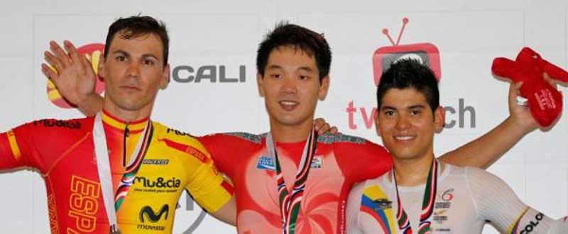 Eloy Teruel en el podio. Fuente: Rfec