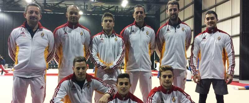 Equipo masculino de gimnasia artística. Fuente: Rfeg