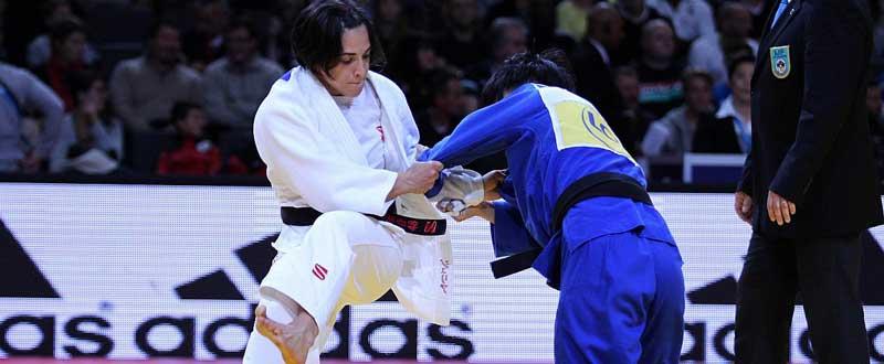La judoca cordobesa, Julia Figueroa, durante un combate. Fuente: IJF