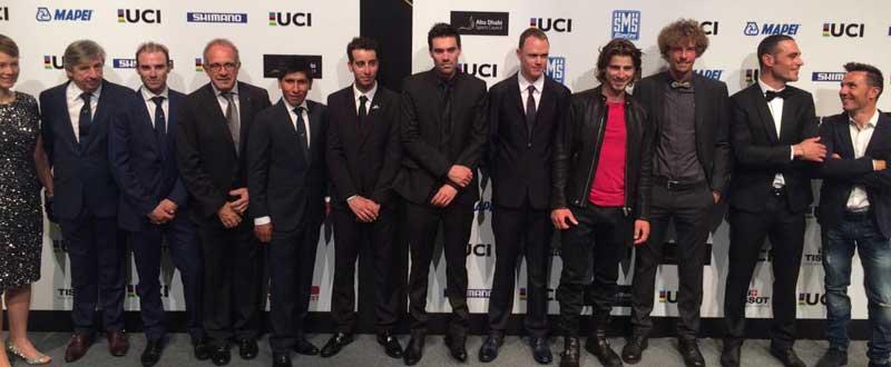 Galardonados premios UCI. Fuente: Rfec