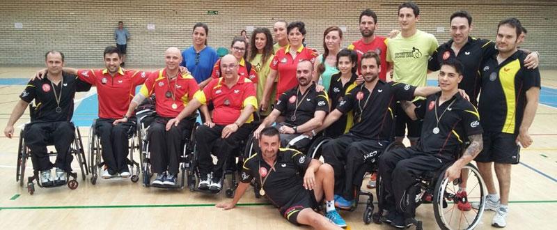 Equipo español en último Open Internacional celebrado en El Prat de Llobregat. Fuente: Rfetm