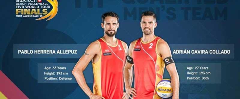 Pablo Herrera y Adrián Gavira han comenzado mal en las World Tour Finals. Fuente: