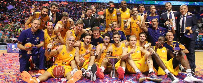 El Barcelona celebra el primer título del año. Fuente: