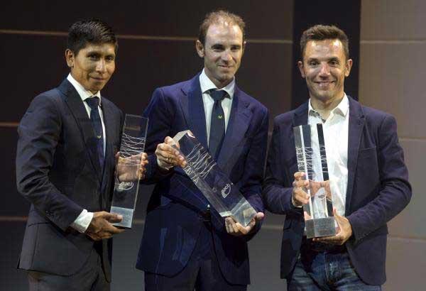 Quintana, Valverde y 'Purito'. Fuente: Rfec