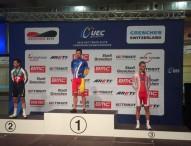 Sebastián Mora, campeón de Europa de scratch