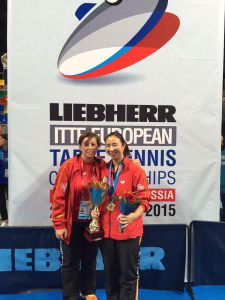 Adriana Samfir y Yanfei Shen. Fuente: Rfetm