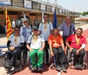 Los medallistas en el Campeonato de Catalunya de Tiro. Fuente: F.