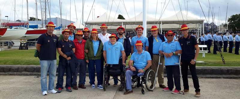 Selección española de vela paralímpica. Fuente: CPE