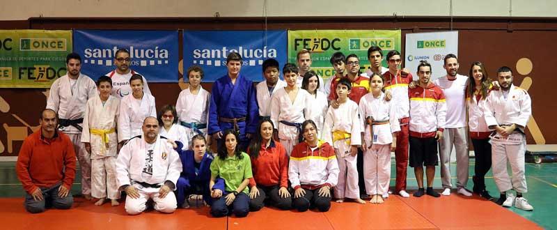 Selección de judo paralímpica. Fuente: CPE