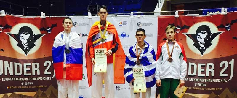 Jesús Tortosa en el podio (centro). Fuente: AD
