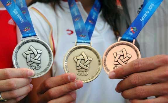 Medalla de los Juegos del Mediterráneo en Almería. Fuente: AD