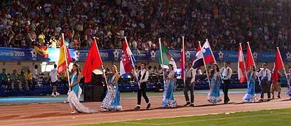Acto inaugural de los Juegos del Mediterráneo en Almería. Fuente: AD