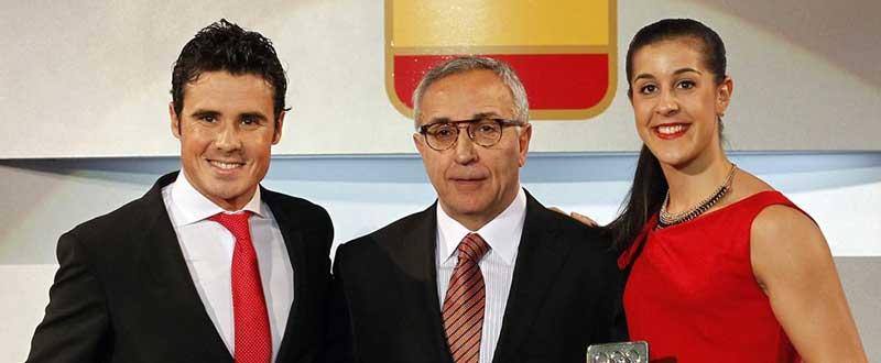 Gómez Noya, Blanco y Marín. Fuente: COE