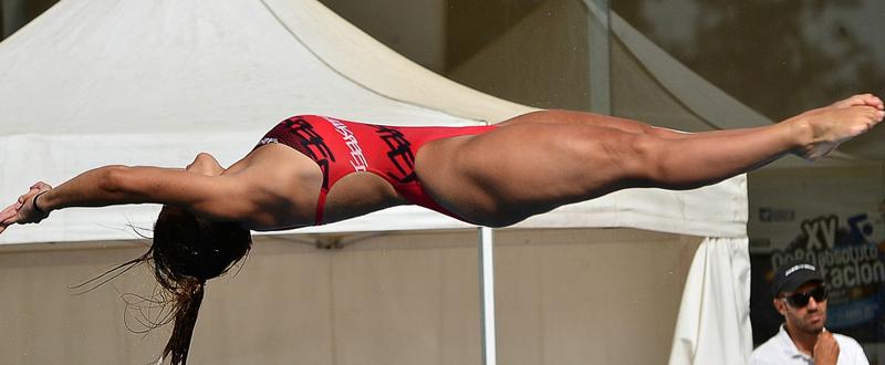 La saltadora Rocío Velázquez se juega su plaza para el Preolímpico. Fuente: AD