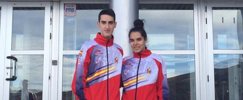 Los taekwondistas españoles Jesús Tortosa y Marta Calvo. Fuente: fetaekwondo