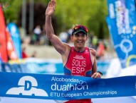 Rafael Solis, campeón de Europa de triatlón de invierno