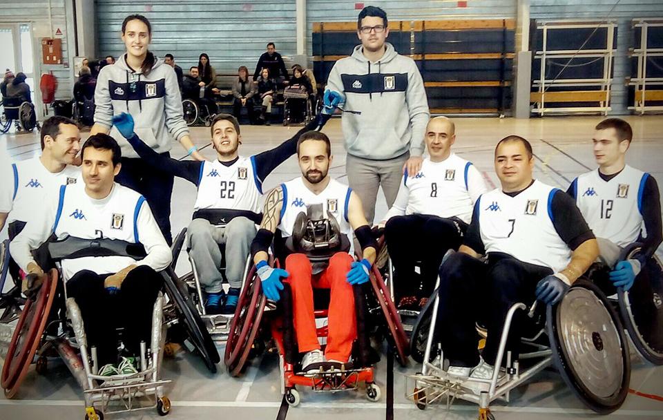 El Barcelona Universitari Club, equipo de rugby en silla de ruedas. Fuente: BUC