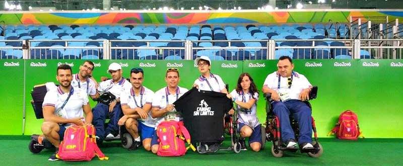 Selección de boccia en Río. Fuente: AD