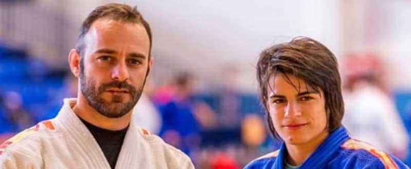 Cinta García y su entrenador, Santiago Bernárdez. Fuente: Montse Coque