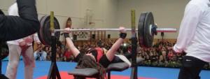 Loida Zabala durante una competición. Fuente: AD