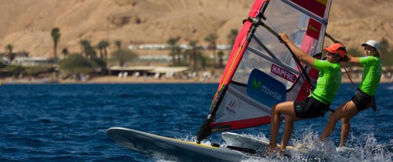 La campeona olímpica de vela RS:X, Marina Alabau, en el Mundial de Eliat. Fuente: Titt Aunast