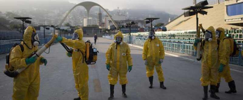 Fumigan en Río. Fuente: AD
