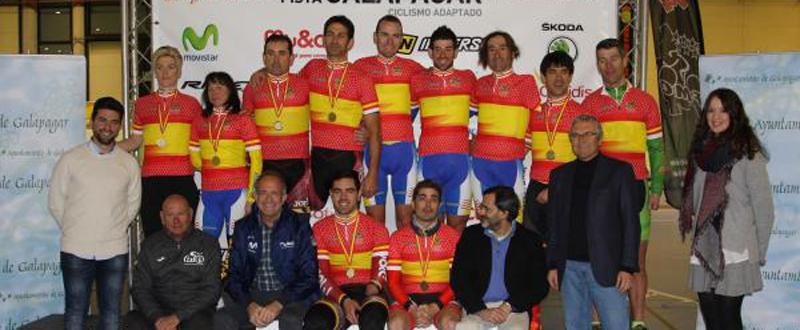 Los campeones de ciclismo paralímpico de España. Fuente: RFEC