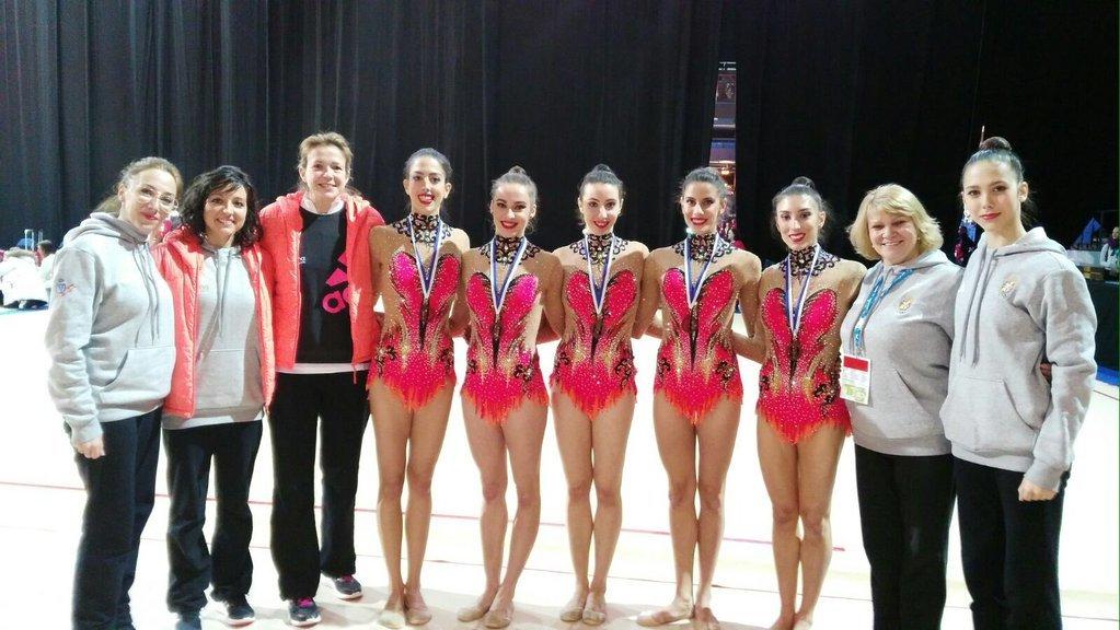Conjunto española de gimnasia rítmica. Fuente: AD