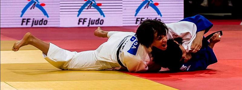Julia Figueroa en el Grand Slam de Francia de 2015 donde fue medalla de bronce. Fuente: Paco Lozano / RFEJUDO