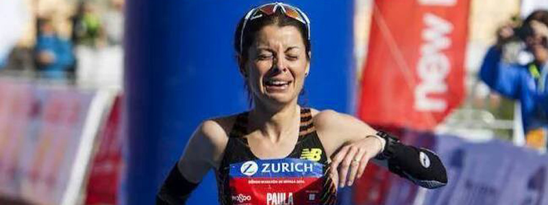 La atleta Paula González tras proclamarse campeona de España de maratón.