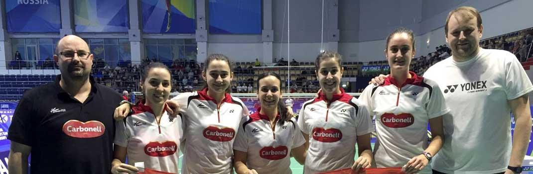 Equipo español de bádminton. Fuente: EFE