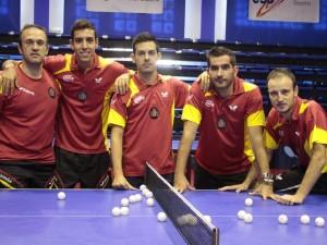 El equipo español masculino. Fuente: RFETM