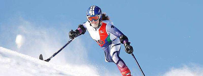 La esquiadora mallorquina, Úrsula Pueyo, durante una competición. Fuente: AD