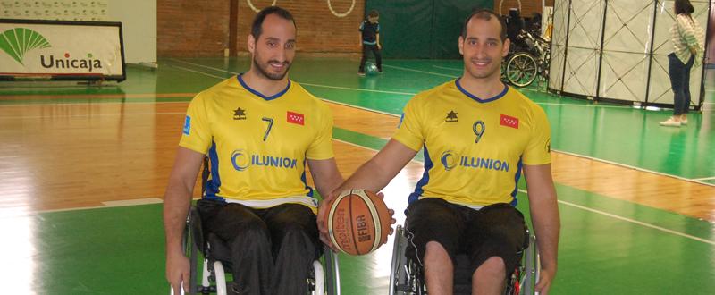 Los hermanos Pablo y Alejandro Zarzuela, en el pabellón de Los Guindos (Málaga) durante la Copa del Rey. Fuente: Francis Moriel