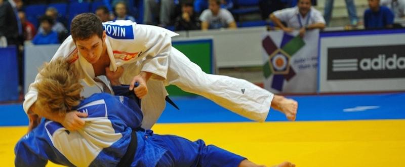 El judoca Nikolos Sherazadishvili, durante un combate.