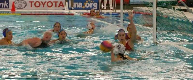 España-Japón en el preolímpico de waterpolo. Fuente: Rfen