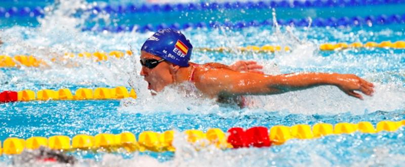 La nadadora española, Mireia Belmonte, durante una competición. Fuente: RFEN