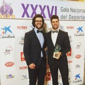 Nico y Lucas en los premios de la prensa.