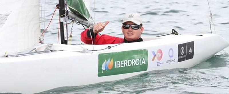 El regatista alicantino, Rafa Andarias, busca el billete para los Juegos de Río. Fuente: AD