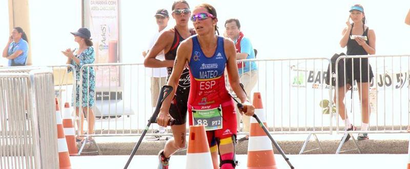 La triatleta española, Rakel Mateo, durante una competición la pasada temporada.