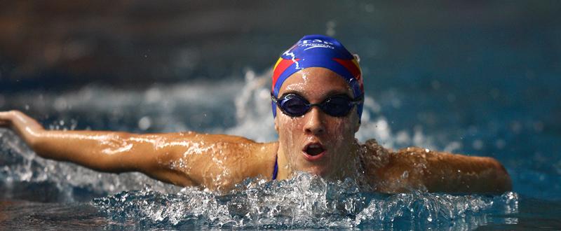 La nadadora española Sarai Gascón, durante un entrenamiento. Fuente: CPE