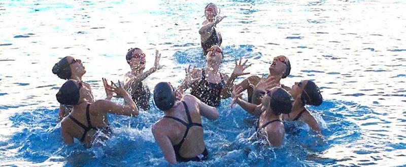 El equipo español de natación sincronizada. Fuente: RFEN
