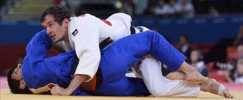 El judoca vitoriano Sugoi Uriarte durante un combate.