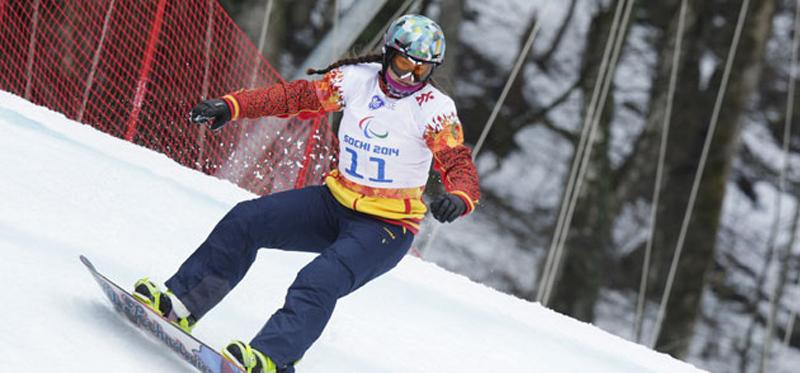 La rider española, Astrid Fina, durante los Juegos Paralímpicos de Sochi. Fuente: CPE